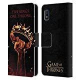 Official HBO Game of Thrones One Throne Key Art Leather Book Wallet Case Cover Compatible for Samsung Galaxy A10e (2019)