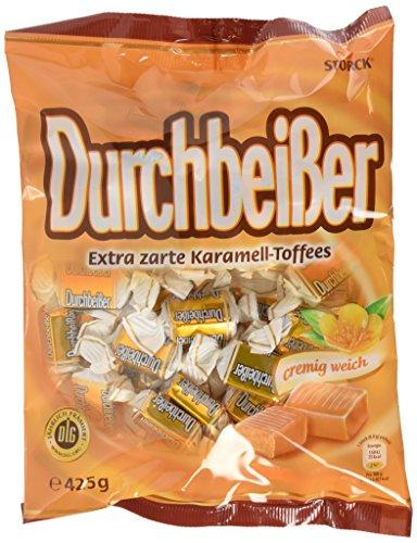Durchbeisser Karamell – (15 x 425g Beutel) – Weiches Toffee mit Karamellgeschmack – Leckere Karamellbonbons zum Naschen