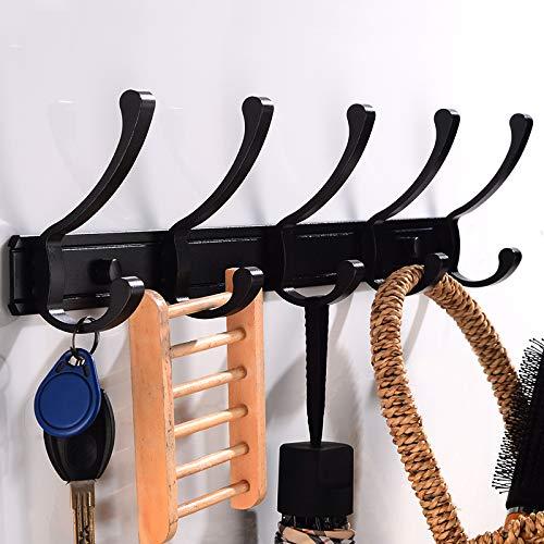 Trihedral-X Robe Haak Badkamer Coat Haak Rack Aluminium Handdoek Haak Zwarte Deur Decoratieve Kleding Haak Hangers Muur gemonteerd Bad Accessoires