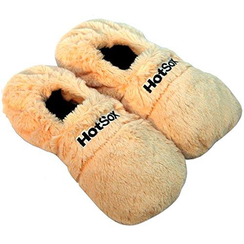 Thermo Sox pantofole riscaldabili ciabatte con semi per microonde e forno unisex M / EU36-40 albicocca - pantofole per microonde ciabatte calde Scaldapiedi