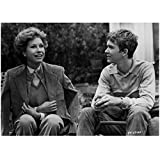 Mary Tyler Moore 8 inch by 10 inch PHOTOGRAPH Mary Tyler Moore The Dick Van Dyke Show Ordinary People B&W Pic from Knees Up Seated w/Timothy Hutton kn