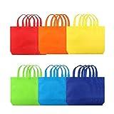Eizur Borse da festa con la maniglie 24 pz 6 Colori Regalo Borsa Non-woven Colorate Dolcetti Sacchetti per Regalo Shopping Alimenti Dolci