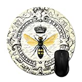 Julyou Modern Vintage French Queen Bee Mouse Pads