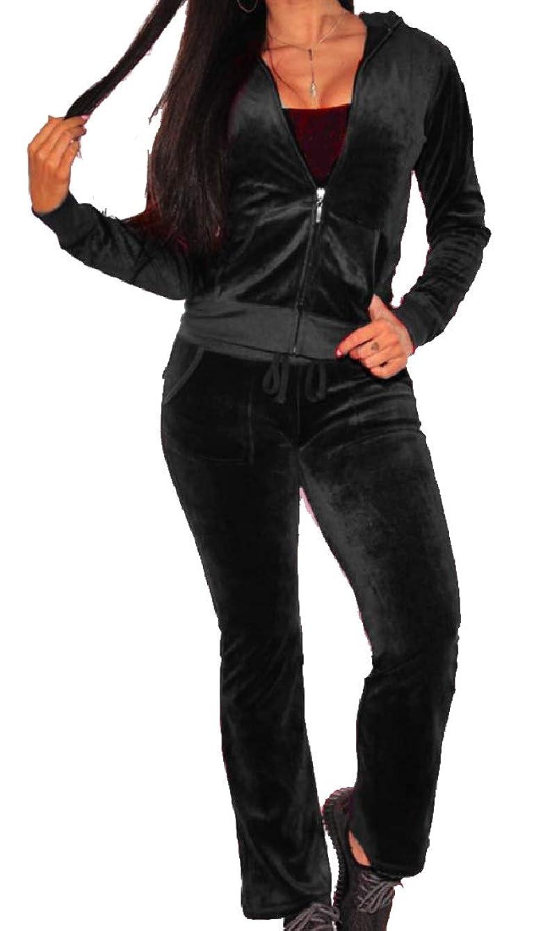 評決文明料理レディースプラスサイズゴールドベルベットジャージージャケットカジュアルパンツパンツ