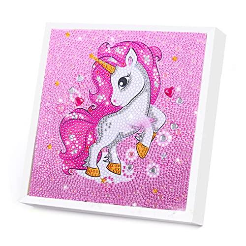 Wishstar Diamond Painting Unicornio, Pintura Diamante Unicornio, DIY 5D Bordado de Diamantes, Diamond Painting Kit Completo por niños Decoración del Hogar