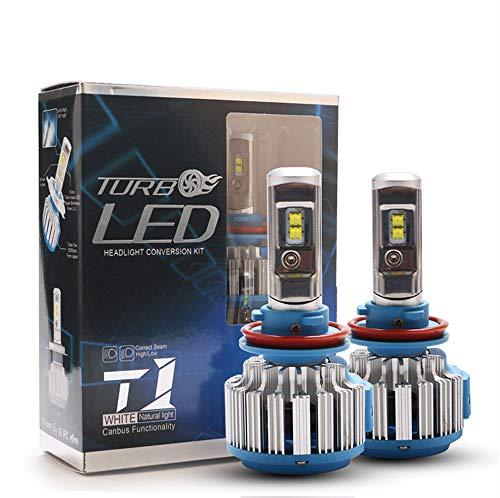 Ensemble de phares T1 à DEL H7, éclairage de rechange halogène en aluminium de remplacement, à proximité et au loin 12 24V 5800ML, lumière blanche