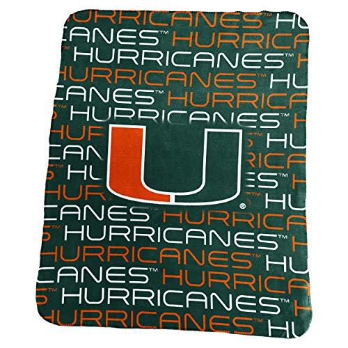 Logo Brands NCAA Miami Hurricanes Classic Fleece, One Size