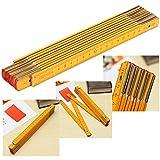 2M Wooden Folding Ruler Measuring Meter...
