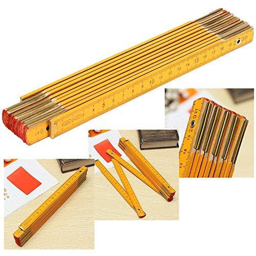2M Wooden Folding Ruler Measuring Meter Rulers For Builder Carpenter Education Measure Tools