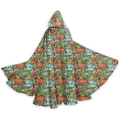 Niet toepasbaar Toad Turtle Reed Cat en Bulrush Unisex capuchon lange mantel met capuchon Halloween Kerstmis Cosplay Party kostuums zwart