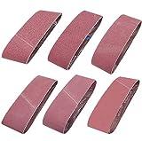 Sackorange 18 PCS 3 inch x 24 inch Abrasive Sanding Belts - 3 Each of 60 80 120 150 240 400 Grit Aluminum Oxide Sander Belts For Belt Sander