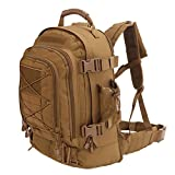 Expandable Adjustable 40L - 64L Outdoors 3 Day Backpack for Hiking School Gym Sport Camping Trekking Travel Military & Tactical,Bug Out Bag