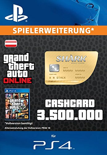 Grand Theft Auto Online | GTA V Whale Shark Cash Card | 3,500,000 GTA-Dollars | PS4 Download Code - österreichisches Konto