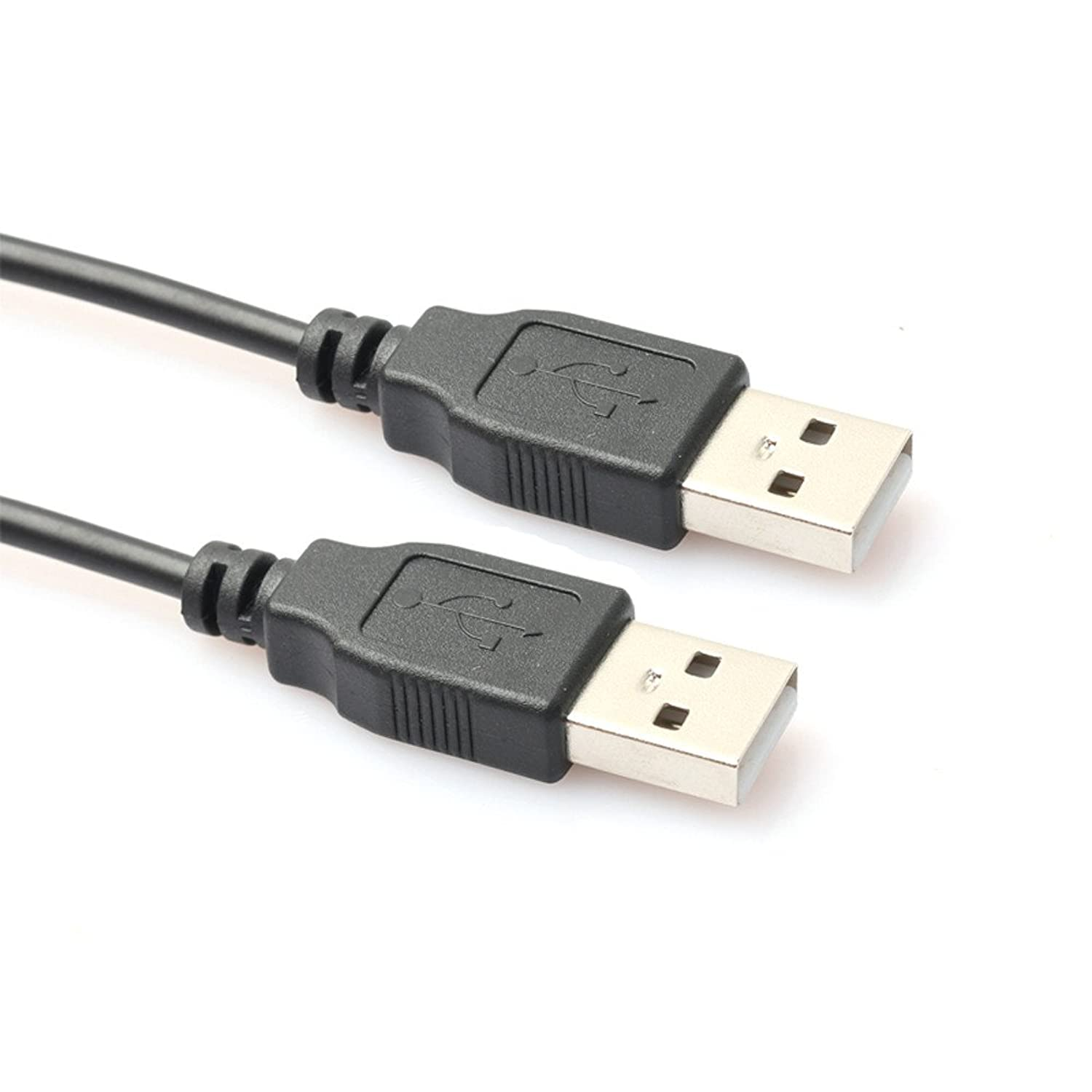 Mini Portable USB 2.0 Type A to A Cable Type A Male to Male Cable Cord for Data Transfer Hard Drive Enclosures, Printers, Modems, Cameras (0.8M) Supports Hi-Speed 480 Mbps (Black)