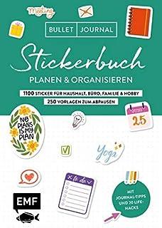 Bullet Journal – Stickerbuch – Planen und organisieren: 1100 praktische Sticker für Haushalt, Büro, Familie und Hobby – Mi...