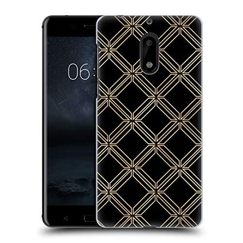 Head Case Designs Ufficiale Haroulita Arte Deco Accento d'oro Cover Dura per Parte Posteriore Compatibile con Nokia 6