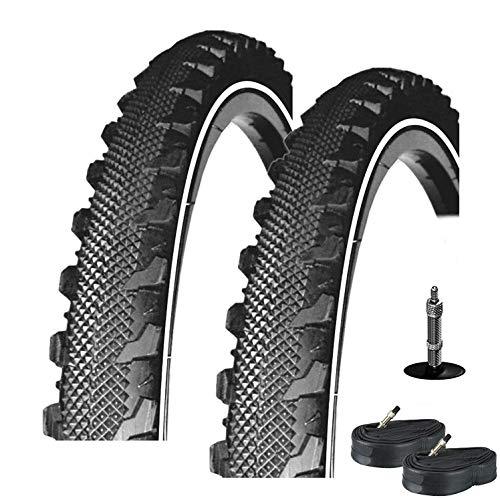 2X Rexway Serpiente Neumático de la Bicicleta Reflex Protección Asfalto 47-559 26 X 1,75 + 2 Mangueras DV40
