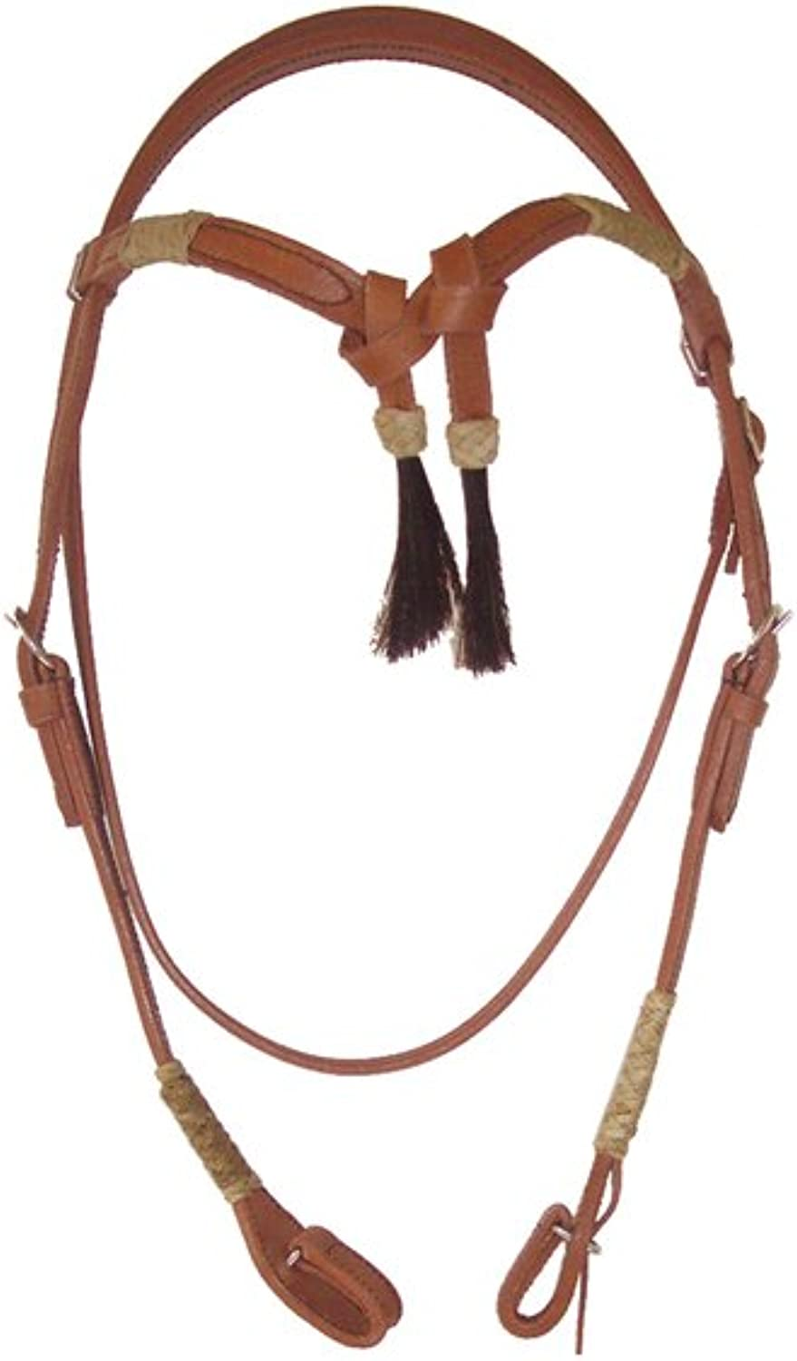 Bridle Western Front Bow with Horsehair, Rawhide, Complete with Reins Finish Lakota Monta Western Bridle Lakota