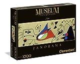 Clementoni - Puzzle de 1000 Piezas, Arte Moderno, diseño Miro: Mujer Y Pájaro En La Noche (392643)