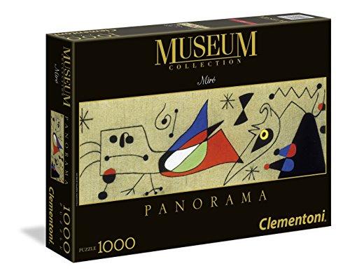 Puzzle de 1000 Piezas, Arte Moderno, diseño Miro: Mujer Y Pájaro En La Noche (392643)