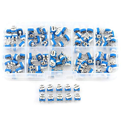 Resistenza variabile 100pcs 10 Resistor variabile trimmer potenziometro 500ohm-1M Kit (100pcs)