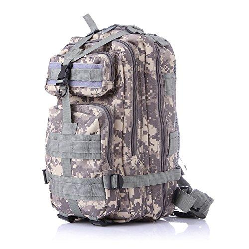 Minetom 35L Zaino Ciclismo Campeggio Viaggio Pack Trekking Escursionismo Montagna Alpinismo Tactical Backpack Bag Impermeabile Pixels Viola One Size(25*25*44 Cm)