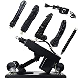 QUIWOO Thrusting Machine Gun for Women and Men with Various Replaceable Black Durable Attachments Automatic Sěx Telescopic Massage Machine Thruster