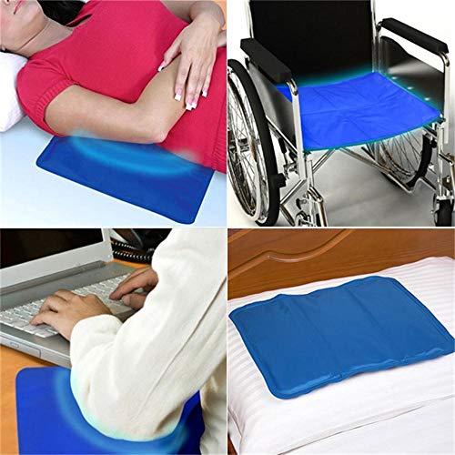 Kühlmatte Selbstkühlende Gel Pad Mat für Verbesserten Schlaf - Hilft Bei Migräne, Kopfschmerzen, Menopause, Nachtschweiß und Hitzewallungen,Re-Usable Relief, Pillow Insert M - 30x40CM