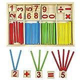 Bloques de madera de juguete, juguetes educativos Montessori, barras de...