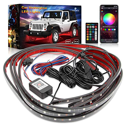 Car Neon Accent Underglow Lights,TACHICO Ultra Long Exterior Car Lights with Smart Brake Function...