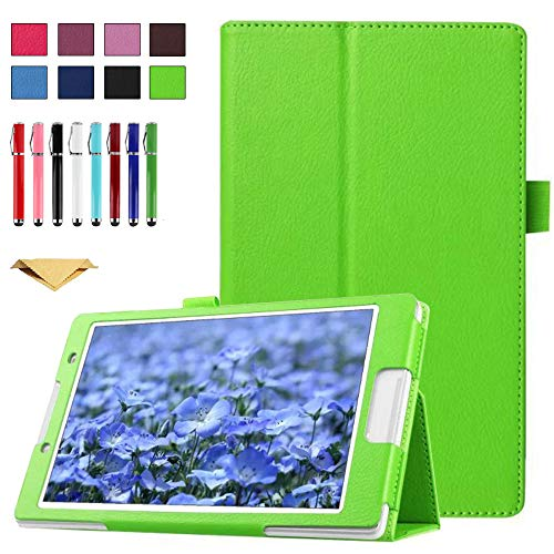 TianTa Case for Galaxy Tab S3 9.7' SM-T820, PU Leather Slim Folding Stand Cover Case with Auto Sleep/Wake for Samsung Galaxy Tab S3 9.7 inch (SM-T820/T825/T827), Green