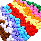 Caydo 600 Pieces 1 Inch Pom Poms for Valentine Hobby Supplies and DIY Creative Crafts Decorations, Assorted Colors