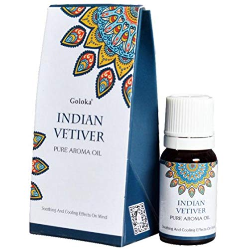 ESENCIA PURA VETIVER DE LA INDIA 10 ML 1 BOTELLA DE
