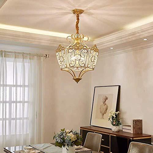 TIANYOU Lámpara de Araña Lámpara Cristal Lámpara Porche Balcón Bar Guardarropa Personalidad Creativa Personalidad Europeo Araña proteger los ojos