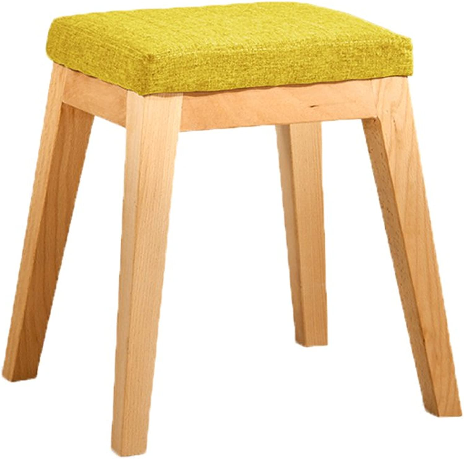 European Chair Solid Wood Bench, Fabric Low Stool Sofa, shoes Bench, Removable and Washable (color   C)