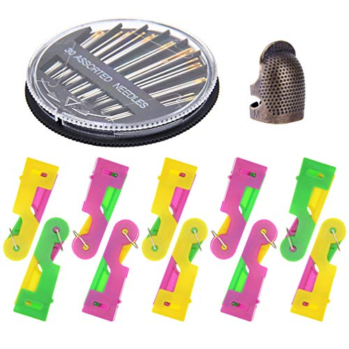 Artibetter Automatische Naaldinrijger Praktische Plastic Zelfinrijger Tools Voor Hand Stiksels en Naaimachine 1 Set (Willekeurige Kleur)