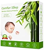 Comfier Sleep Super Soft Waterproof Crib 50x90 cm Mattress protector 100% Bamboo Breathable and fully fitted Crib Mattress Cover (50x90 cm)