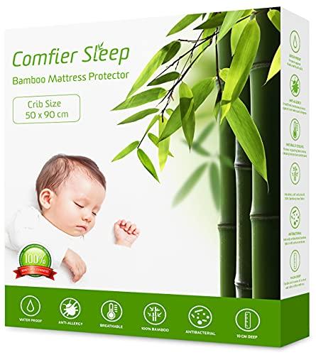 Comfier Sleep Super Soft Waterproof Crib 50x90 cm Mattress protector 100%...