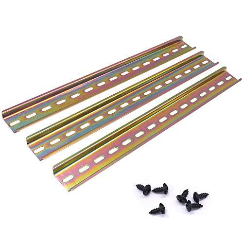 """Taiss/3 Stücke DIN-Schiene hochwertigem Farbe Stahl,für Verteilerschrank Schaltschrank, 35mm breit, 7,5mm hoch, lang 300mm/12""""-G"""