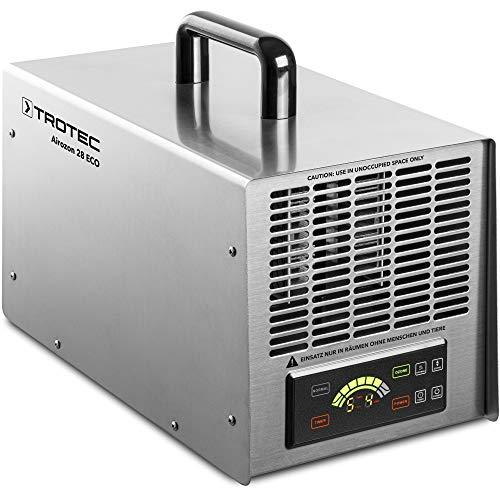 TROTEC Ozongenerator Airozon® 28 ECO Geruchsneutralisation Desinfektion Luftreinigung Fernbedienung 135 min Timer für Zimmer Auto