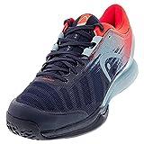 HEAD Sprint Pro 3.0 Men, Tennis Shoe Hombre, Azul Oscuro Rojo Neón, 44.5 EU