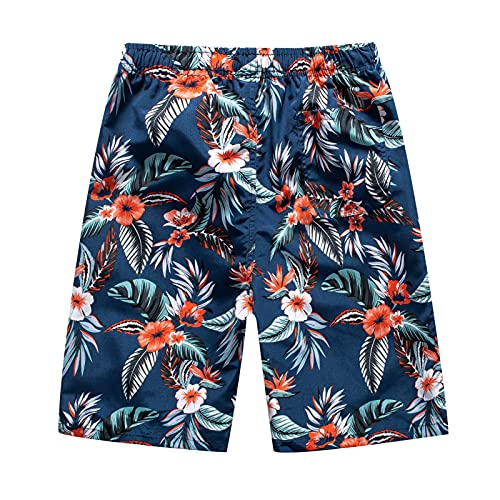 Toimothcn Men's Outdoor Swimming Shorts Five-Point Pants Beach Trunks Loose Quick Dry Pant(3-Orange,Large)