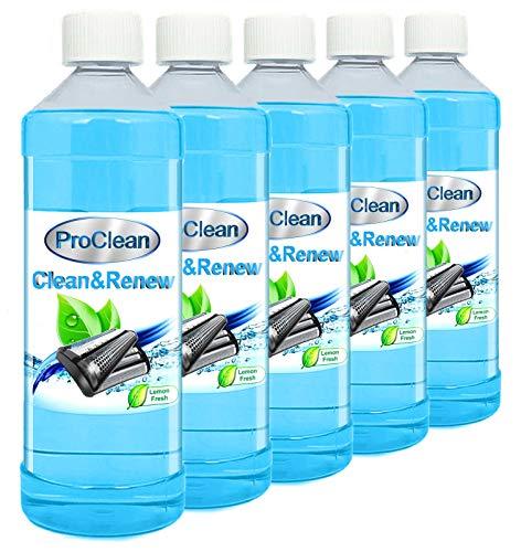 Ideal Pro Clean Scherkopfreiniger 5 x 1000ml Nachfüllflüssigkeit für Reinigungskartuschen. Braun CCR Kartuschen + gängige Kartuschen