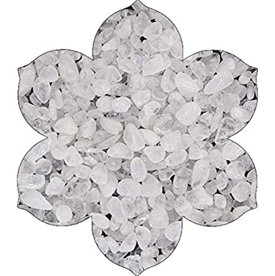 NatureWonders Tumbled Stones and Crystals Chips All Natural Crystal Gemstone for Vase Fillers Candle Holders Decorations Wedding Centerpieces Aquarium Crafts