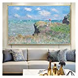 CCZWVH Nórdico Acuarela francés Claude Monet Seascape imágenes de Pintura de Lienzo Arte de Pared Ca...