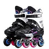 Patines en línea para hombre, ruedas de pu con marco de aluminio de alta calidad, patines de velocidad en línea, patines profesionales para hombres(Size:6 /(23CM) /37)