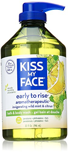 Kiss My Face Early-to-Rise Moisturizing Shower Gel, Bath and Body Wash, Value Size 32 oz