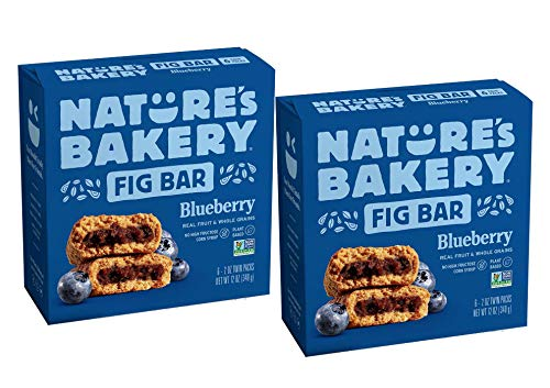 Nature's Bakery Blueberry Real Fruit, Whole Grain Fig Bar: 2 Pack - 12 ct. (24 oz.)