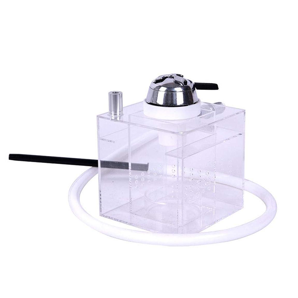 十分な制限する金額熱管理とリモートコントロールと色が変化するLEDライト、アクリルキューブ水ギセル、水ギセルとキセルセット