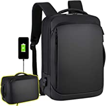 """Laptop Backpack Casual Daypacks 15.6"""" Briefcase Convertible Water Resistant Business Travel Rucksack with USB Charging Port Office College School Notebook Computer Laptop Bag Work Backpack Teens Men"""